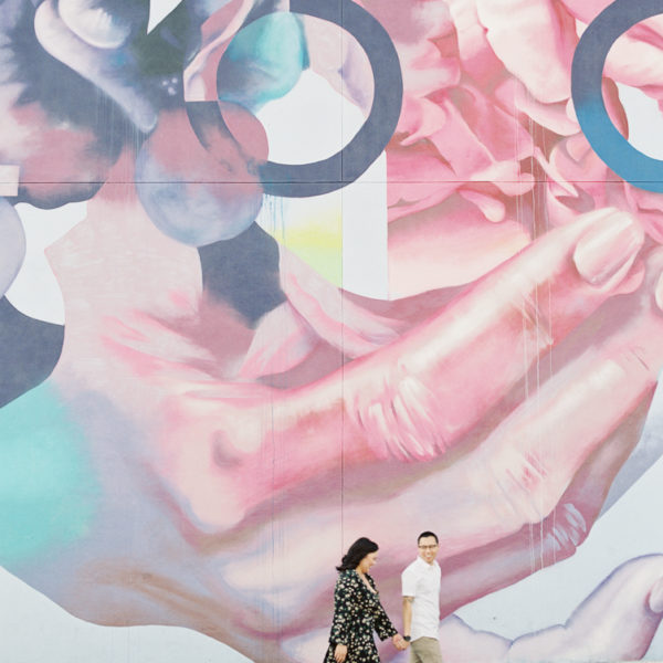 Downtown Los Angeles Art's District Engagement | Melisa + Elmond