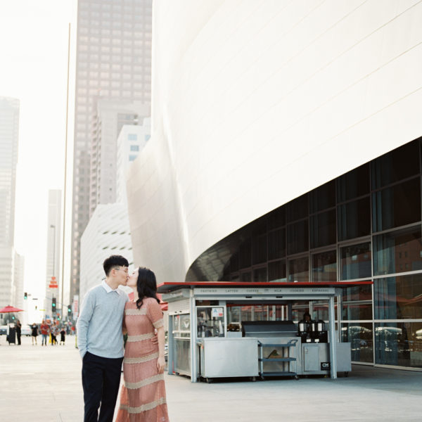 Downtown Los Angeles Engagement | Helen + Ray